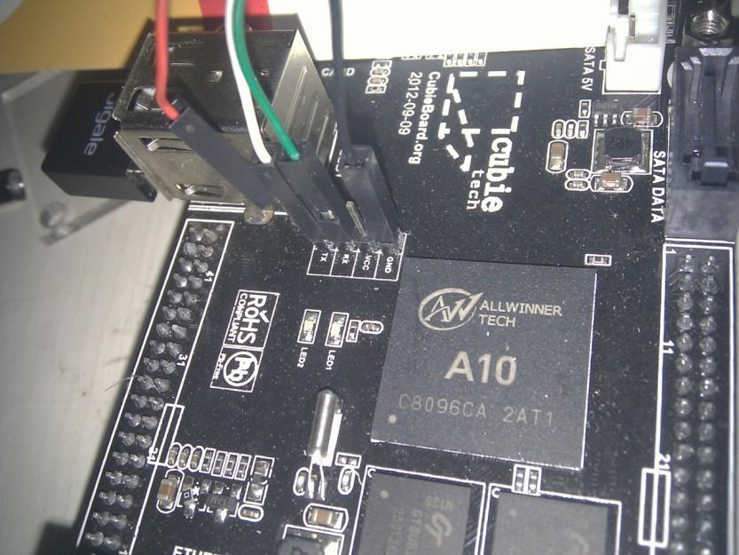 Cubieboard TTL插线方法